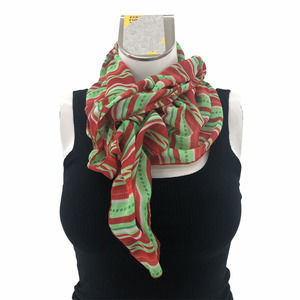 Christmas Striped Sheer Neck Scarf
